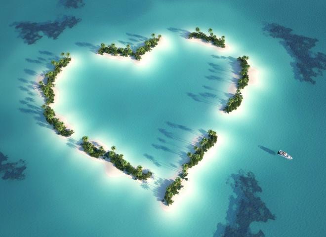 Чудеса света: удивительные места на Земле в форме сердца