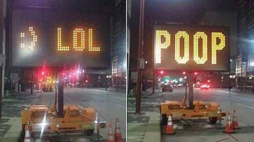 Смешные предупреждения на дороге