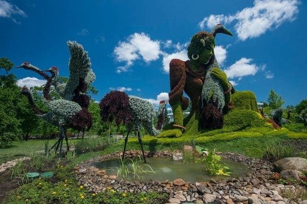 Красивые цветочные скульптуры