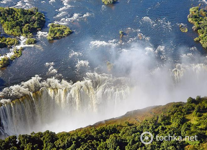 Самый опасный бассейн в мире: Водопад Виктория