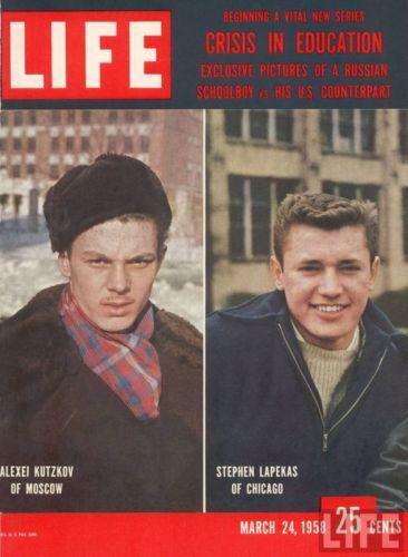 Студенты США и СССР в журнале 1958 года