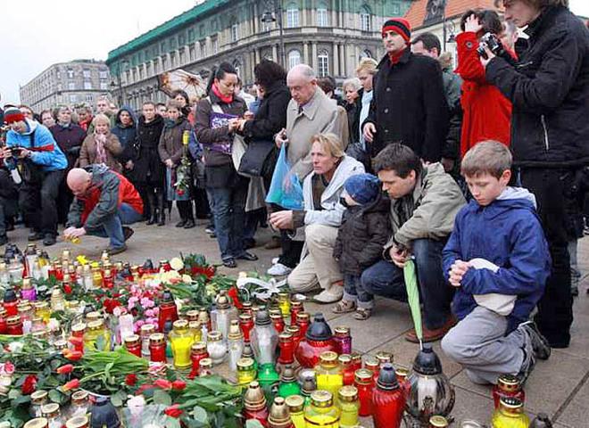 Польша, траур