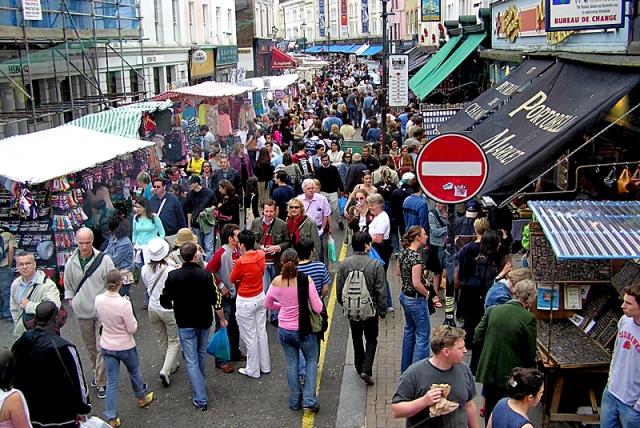 Достопримечательности Лондона: рынок Portobello