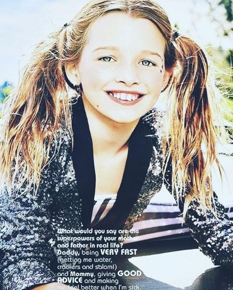 Дочь Милы Йовович для Vogue Italia