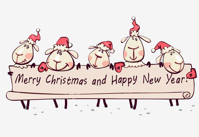 Прикольная открытка с овечками 2015