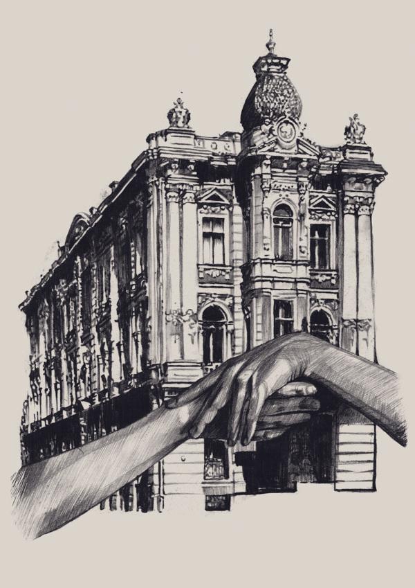 Незвичайна архітектура Одеси в роботах художниці Даші Пліска