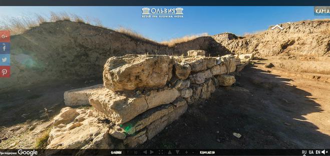 Google запустил виртуальный тур древней Ольвией
