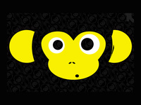 Милая обезьна на рабочий стол