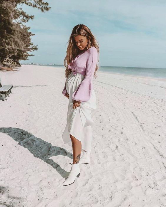 15 стильных беременных, которые умеют одеваться
