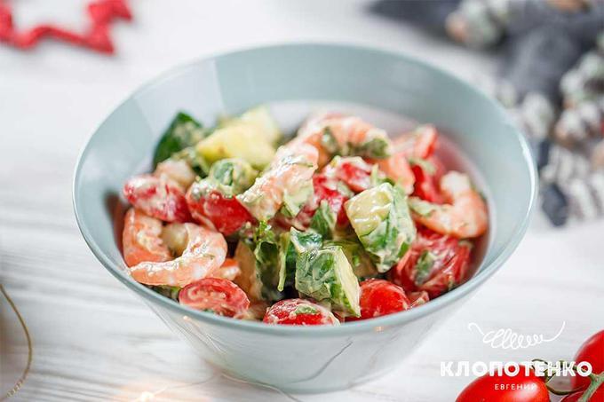 Салаты с морепродуктами на 8 Марта