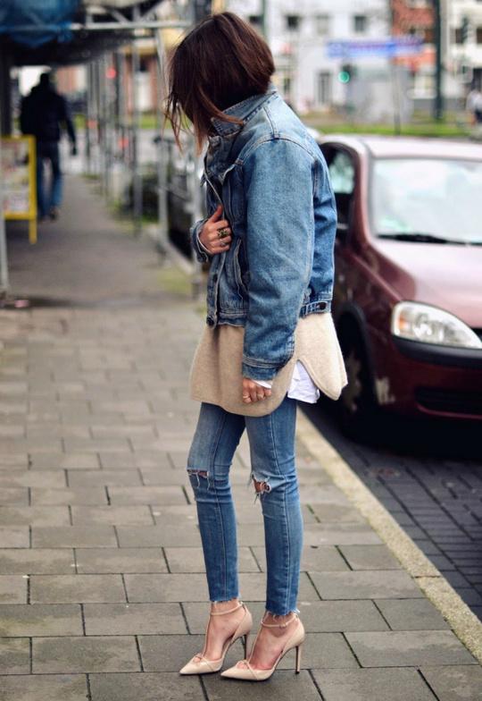 С чем носить джинсы: двойной деним