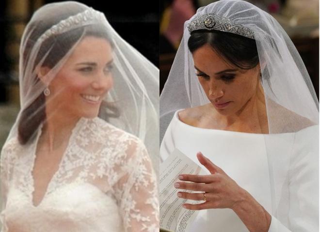 Кейт Міддлтон і Меган Маркл (весільні сукні)