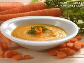 Морковный суп-пюре с имбирём