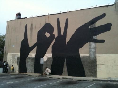 """Граффити """"LOVE"""""""