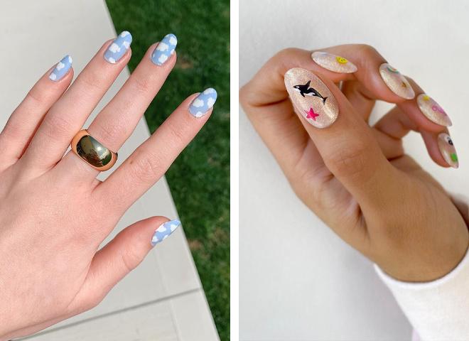 Пляжний манікюр: дизайн нігтів для літнього відпочинку