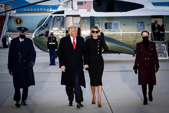 Мелания и Дональд Трамп покидают Белый дом