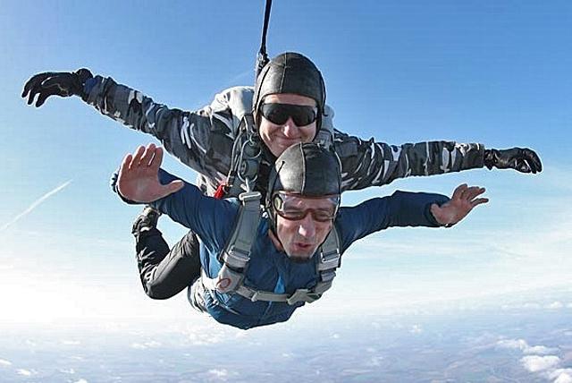 Экстрим в Украине: прыжки с парашютом