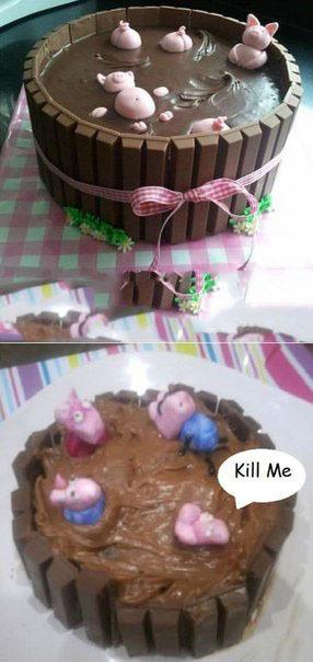 Попытался сделать торт....