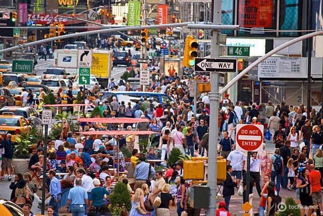 5 мест, где туристу лучше не бывать в понедельник: Тайм Сквер, Нью-Йорк, США