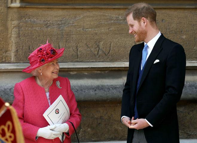 Єлизавета ІІ та принц Гаррі