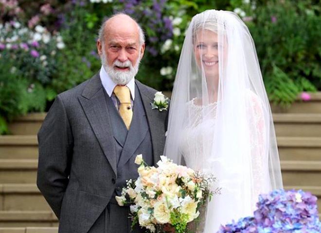 Леди Габриэлла Виндзор со своим отцом - принцем Майклом Кентском