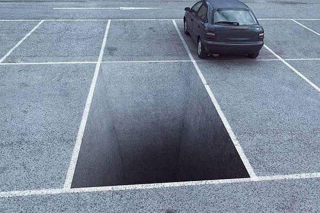 Оригинальная стоянка для авто