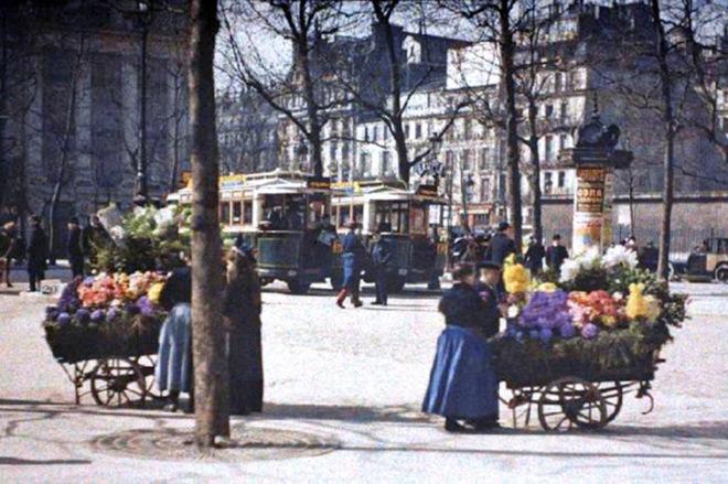 Старый Париж: редкие цветные фото братьев Люмьер