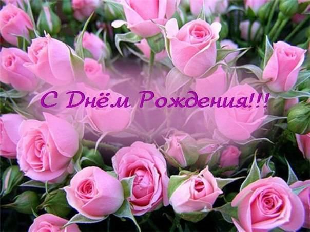 Открытка поздравление с днем рождения цветы