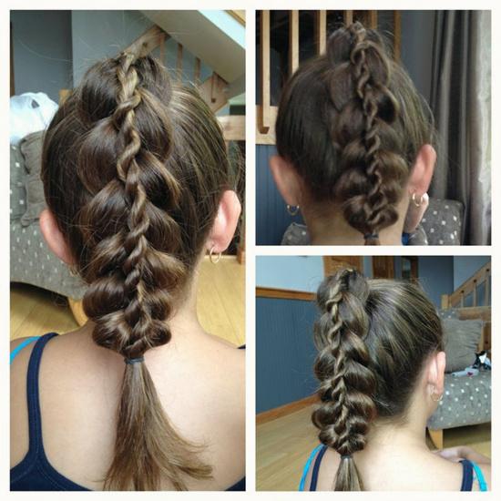 Прически на 1 сентября на волосы средней длины