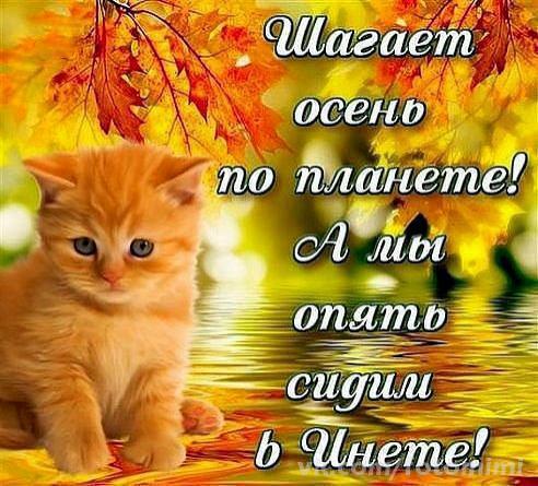 Осень открытки с надписью 13