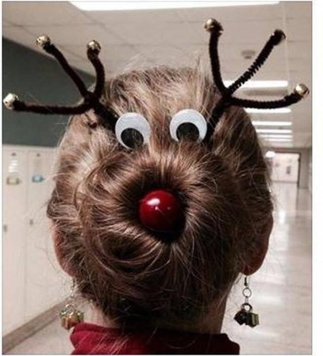 Картинки по запросу Креативные причёски на Новый год