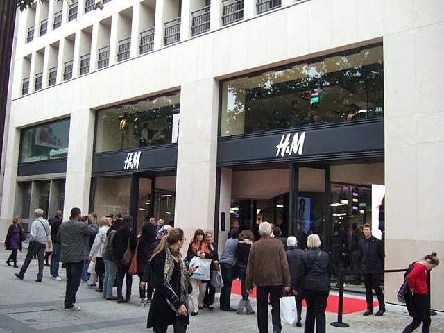 Шопинг в Париже: Магазин H&M на Елисейских полях