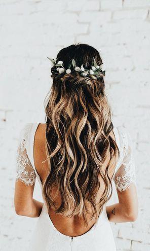 Свадебные прически: с цветами