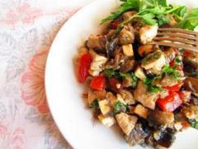 Салат с буклажанов