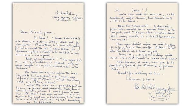 письмо Пола Маккартни
