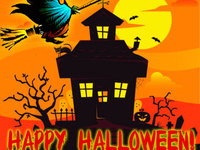 Прикольная открытка на Хэллоуин