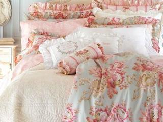 Шебби-шик в интерьере спальни (фото)