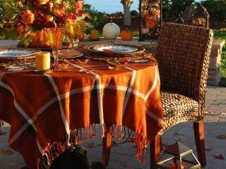Осенний пикник в саду на даче или в парке