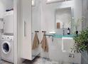 Скандинавский стиль для маленьких ванных