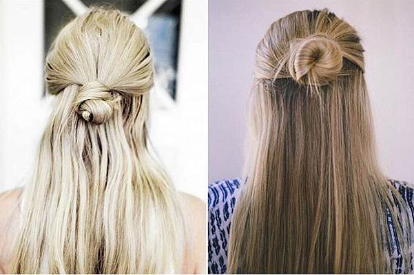 Зачіски на довге волосся: полупучок − тренд весни 2016 (фото, відео)