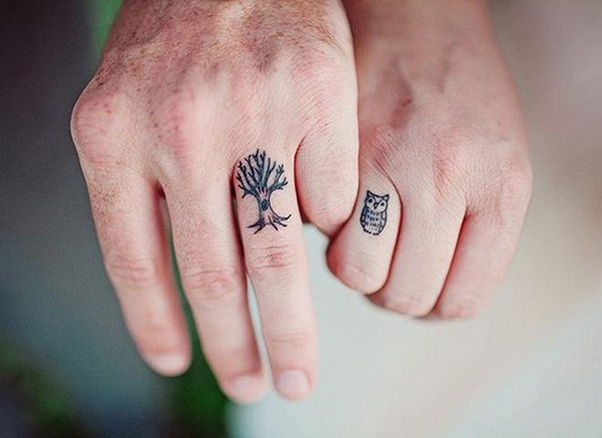 20 ідей весільних татуювань замість обручок (фото)