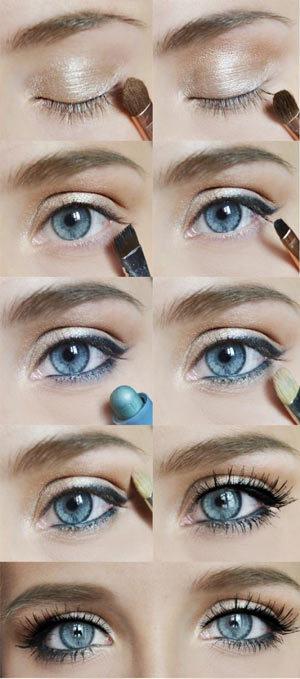 Макіяж для блакитних очей: денний і вечірній варіанти (фото, відео)