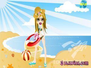 Лялька Братз на пляжі
