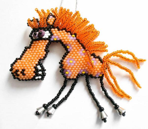 Ржачные лошадки с бисера
