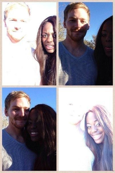 Как сложно сделать хорошее совместное фото, когда вы разного цвета кожи