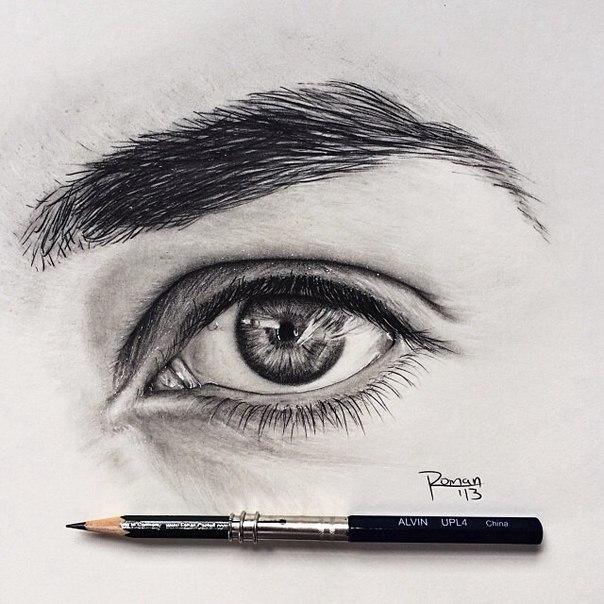 Завораживающий взгляд обычным карандашом