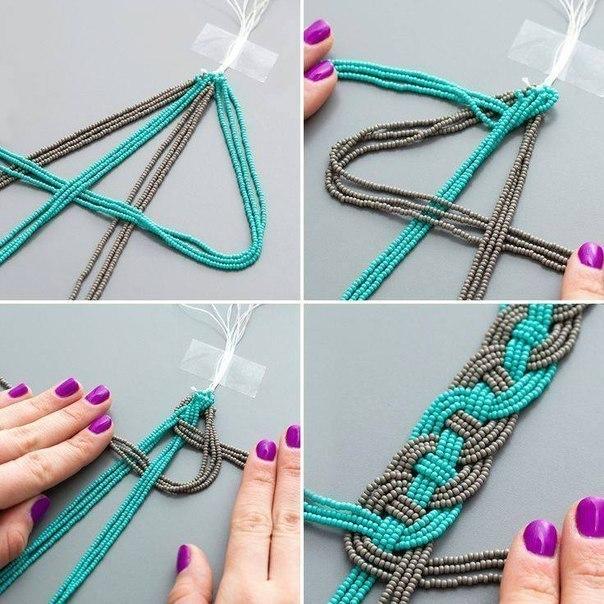 Браслеты своими руками и схема плетения фото 394