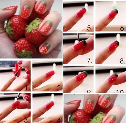 Рисуем на ногтях с пошаговой инструкцией