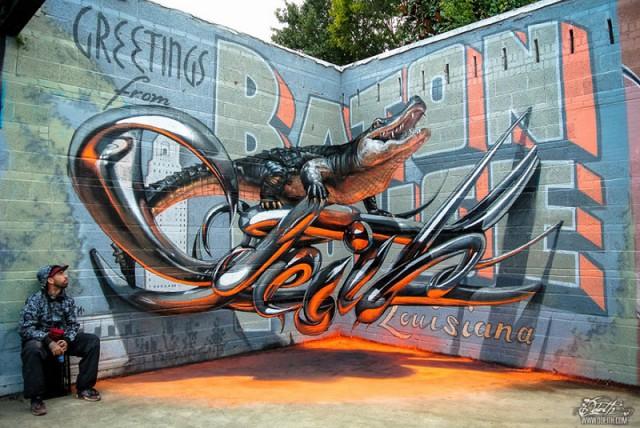 Восхитительные 3д граффити от Одейта