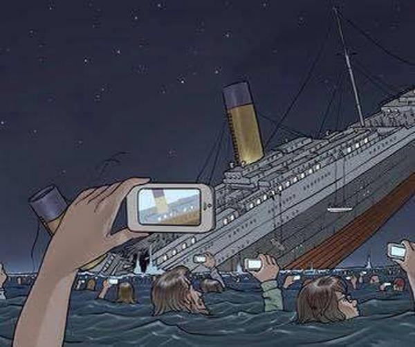 Если бы Титаник затонул в наши дни.